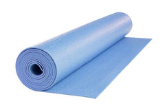 Yoga mat isolated, includes clipping path. Royalty Free Stock Photography