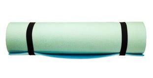 Yoga mat isolated on white Stock Photo