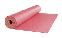 Yoga mat isolated on white background Royalty Free Stock Photography