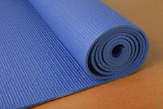 Yoga Mat on Orange Stock Photo