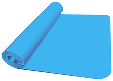 Yoga Mat. Sports bedding for classes in yoga and fitness room. Vector illustration Royalty Free Stock Photo