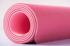 Yoga mat is on the surface Stock Photos