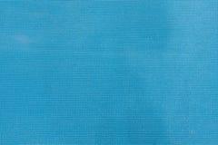 Yoga mat texture. Detial of blue yoga mat texture stock photo