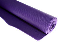 Yoga mat on white Royalty Free Stock Image