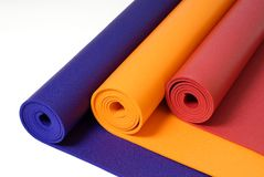 Yoga Mats Royalty Free Stock Photos