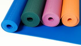 Yoga Mats Royalty Free Stock Photography