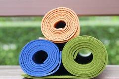 Yoga mats Royalty Free Stock Photos