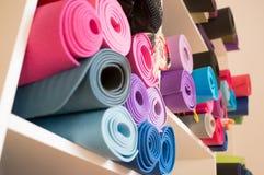 Yoga mats Stock Image
