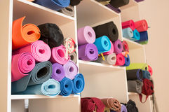 Yoga mats Royalty Free Stock Image