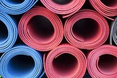 Yoga mats Stock Images