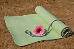 Yoga-Matte stockfotos