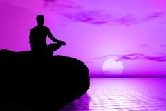 Yoga - méditation de lever de soleil Images libres de droits