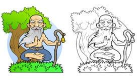 Yoga meditates on the nature Royalty Free Stock Photography