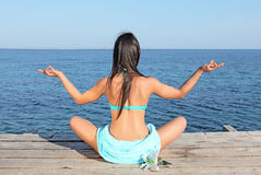 Yoga of meditatie royalty-vrije stock afbeelding
