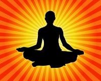 Yoga - Meditatie vector illustratie