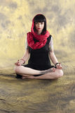 Yoga Meditation. Pretty woman in the Zen Meditation position Stock Photography
