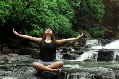 Yoga or meditation Royalty Free Stock Photo