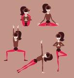 Yoga meditation. Woman doing yoga postures illustration vector illustration