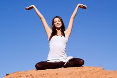 Yoga and meditation Royalty Free Stock Photos