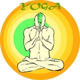 Yoga-Meditation: Asana Stockbild