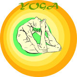 Yoga Meditation: Asana Stock Photo