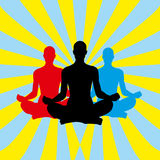 Yoga meditation background Royalty Free Stock Photo