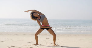 Yoga Meditation On The Beach. Stock Photos