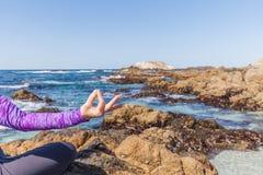 Yoga Meditation on the Beach Royalty Free Stock Photo