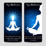 Yoga meditation brochure flyers template Royalty Free Stock Photos
