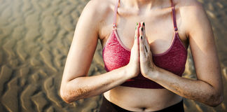 Yoga Meditation Concentration Peaceful Serene Relaxation Concept Stock Photography