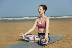 Yoga Meditation Concentration Peaceful Serene Relaxation Concept Royalty Free Stock Photography