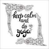 Yoga and meditation concept background with text keep calm and d Royalty Free Stock Photography