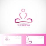 Yoga meditation 3d logo Royalty Free Stock Photo