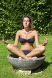 Yoga and meditation girl Stock Photos