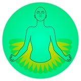 Yoga Meditation Icon royalty free illustration