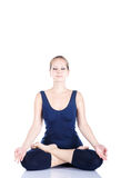 Yoga meditation in lotus Royalty Free Stock Image