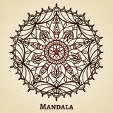 Yoga meditation mandala ornament Royalty Free Stock Images