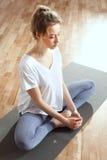 Yoga and meditation. Stock Photos