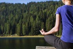 Yoga and meditation Royalty Free Stock Image