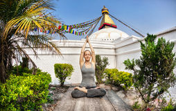 Yoga meditation in Nepal Stock Photography