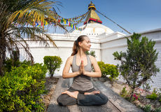 Yoga meditation in Nepal Royalty Free Stock Images