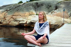Yoga meditation and peace Royalty Free Stock Images