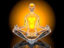 Yoga Meditation pose. A yoga meditation pose. 3D Illustration Stock Images