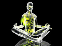 Yoga Meditation pose Royalty Free Stock Image