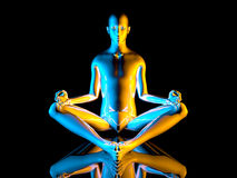 Yoga Meditation pose Royalty Free Stock Images