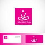 Yoga meditation pose logo Stock Photography