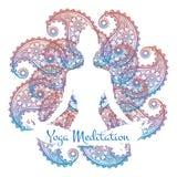 Yoga meditation poster Royalty Free Stock Images