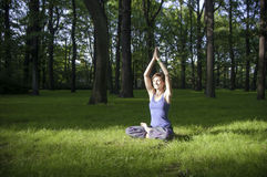 Yoga meditation practice Royalty Free Stock Image