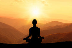 Yoga and meditation Royalty Free Stock Image