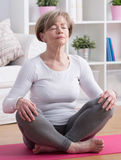 Yoga meditation training Royalty Free Stock Photo